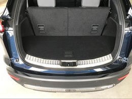 2019 plaque de garniture Style de voiture En Acier Inoxydable Intérieur Extérieur Extérieur Bumper Protector Garde Plaque De Protection Garniture Pour Mazda CX-9 CX9 2016 2017 2017 2018 plaque de garniture pas cher
