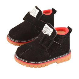 Children s Alphabet velvet shoes thickened warm small leather shoes boy girl  boots anti-skid Zapatos  YL1 93921fe01c5ac