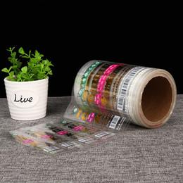 etiqueta de sello de botella Rebajas Etiquetas adhesivas translúcidas BOPP personalizadas paquete impermeable etiquetas transparentes transparentes etiqueta nueva llegada botella adhesivos de sellado adhesivo