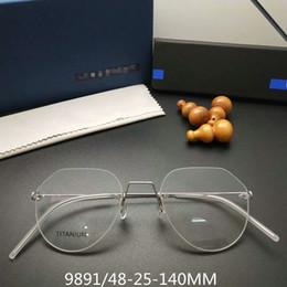 d2a4e77855 Handmade Linderbg multi-shape rimless glasses frame unisex titanium glasses  ultra-light prescription glasses no-screw designer full-set case eyeglass  frames ...
