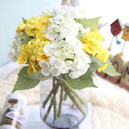 2019 prodotti di seta Seta ortensia regali fai da te matrimonio decorazioni natalizie per la casa falsa floristica plastica prodotti per la casa fiori artificiali Rattan EEA380 sconti prodotti di seta