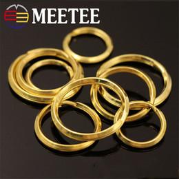 2019 anéis de latão sólidos Meetee 20mm 25mm 30mm Bronze Sólido Abertura Chaveiro DIY Anéis De Couro De Artesanato Acessórios Anel chaveiro Saco Anéis Fivela ZK200 desconto anéis de latão sólidos
