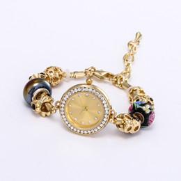 Canada Bracelets de corde rouge chanceux pour les hommes de la mode couleur or Joker pendentif Montre perles Bracelet Diamant Exquis Bijoux Montre Offre