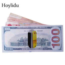 долларовые банкноты Скидка Creative Chic Money Clip Wallet Men for Money and Cards Currency Notes Pattern Dollar Euro Pound Canvas Clips Unisex Purse