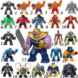 2019 boîte à arme Grand Decool Thanos Grand Anti Émeute Anti-Venom Carnage Vert Lanterne Hulk Buster Gobelin Chose Building Block Chiffres Jouet Pour Enfants