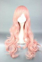 peluca lolita resistente al calor Rebajas ¡Pelucas de fiesta rizadas largas y rosadas de Akoya Gero Cosplay para mujeres!