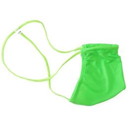 Micro cadenas para hombre online-Mens Micro G-String Thong Contoured Pouch G7452 posando la cobertura del límite límite Silky Soft Underwear nylon spandex