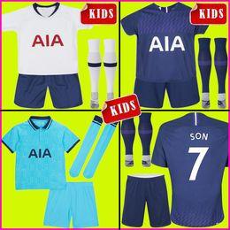 camiseta de fútbol naranja Rebajas Tottenham KANE camiseta de fútbol espuelas 2019 2020 camisetas LUCAS ERIKSEN DELE SON 19 20 conjunto de niño para niños Kit de camiseta de fútbol calcetines uniformes NDOMBELE