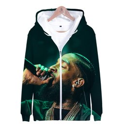 characters print sweatshirt Promo Codes - BTS 3D Nipsey Hussle Print Kpop Hot Sale Women Men Hoodies Sweatshirts Zipper Popular Hip Hop Creative Design Sweatshirt 4XL