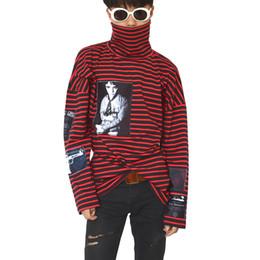 полосатый сыпучий винтаж Скидка Мужская модельер футболки с длинным рукавом в полоску с принтом хип-хоп футболка мужской винтаж свободные брюки топы горячая распродажа одежда