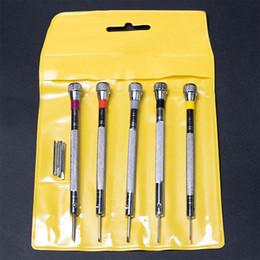 5pcs / set petit kit de tournevis pour lunettes ordinateurs portables, téléphone portable tournevis plat pour montres jouets outils de réparation fendue ? partir de fabricateur