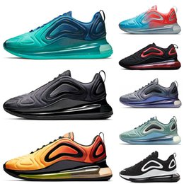 official photos 4edfc ee28c 2019 großhandel sneakers frau nike air max 720 Total Eclipse Sea Forest 720  Herren Damen Laufschuhe
