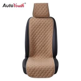 copri sedili in velluto Sconti AUTOYOUTH 1PCS Coprisedile per auto Nano Cotton Velvet Cloth Cuscino per sedile universale Protector 4 colori Car-Styling Interior Accessori