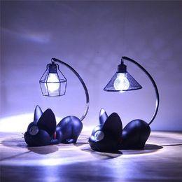 2019 bambini animali leggeri notturni Luminaria LED Lights Magic Cartoon Cat Animal Night Light Baby Nursery Lampada da tavolo per bambino Kid regalo di compleanno Decorazione della casa bambini animali leggeri notturni economici