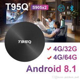 2019 set tv box 3d El nuevo T95Q 4GB 32GB / 64GB Android 8.1 Amlogic S905X2 Quad Core ARM TV BOX Wifi BT4.1 1000M H.265 4K Media Player Smart andriod tv Box