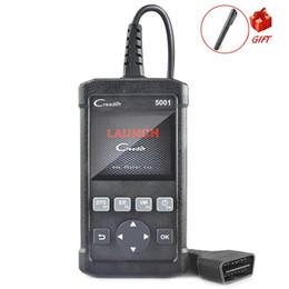 Chevrolet geschenke online-OBD2 Selbstscanner-Produkteinführung Creader CR5001 Voll OBD2 Funktionsdiagnosewerkzeug Codeleser-Scanner mit Gift Bremsflüssigkeitstester
