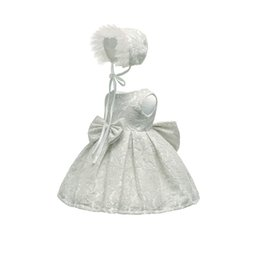 Lunghezza abito anno vecchio online-Baby Dress Princess Dress Lunghezza al ginocchio Abiti Lace One Year Old Photography Abbigliamento Bambini piccoli 3-24M 47