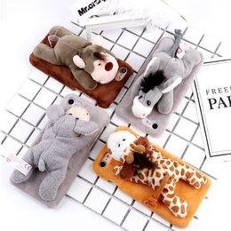 tampas do telefone do macaco Desconto Casos de telefone celular macaco bonito burro designer de pelúcia recheado toys phone case capa para xs max xr 78 plus novo