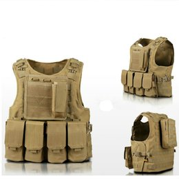 vest hunting Coupons - Tactical Vest Amphibious Battle Molle Waistcoat Combat Assault Plate Carrier Vest Hunting Protection Camouflage