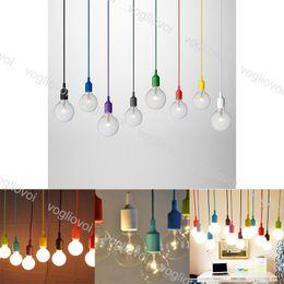 2019 iluminación de sílice Luces colgantes E27 Soporte Colorido moderno Comedor Lámparas colgantes Gel de sílice Material Decoración Luz DHL iluminación de sílice baratos