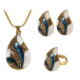 5 Farben Wassertropfen Pendent Transparent Zirkon Kubische Schlangenkette Halskette Ohrringe Schmuck-set Für Frauen Braut Hochzeit Hochzeits- & Verlobungs-schmuck