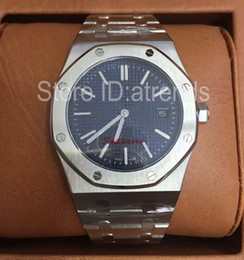Relógios de pulso elegantes homens on-line-Clássico Top Fashion Relógio de Quartzo Homens de Prata de Ouro 39 MM Dial Sapphire Vidro Relógio de Pulso Mans Full Stainless Steel Casual Elegante Relógio 612E