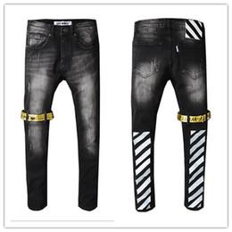 Calças de grife designer de moda on-line-Moda Mens Revival Calça Jeans Street Style Boy Jeans Calças Jeans Calças Designer dos homens Tamanho 28-40 Novo # 8686