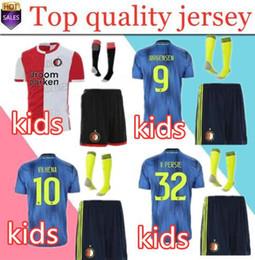 2019 новые рубашки для мальчиков 2019 2020 новый детский комплект Feyenoord футбольный джерси blue19 20 LARSSON V.PERSIE BERGHUIS VILHENA JORGENSEN футболка для мальчика футболка детская скидка новые рубашки для мальчиков
