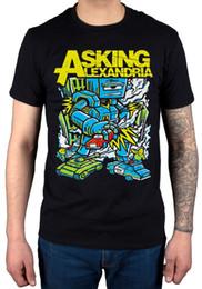 2019 2xl robot Assinatura oficial Alexandria Assassino Robô T-Shirt Nova Merch Afterlife Hourglass Manga Curta Plus Size t-shirt 2xl robot barato
