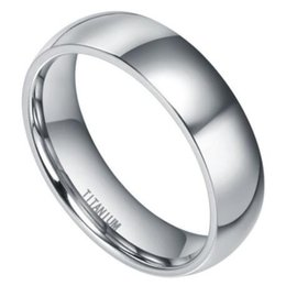 polish jewelry brands Coupons - Brand Band Rings 8mm Men's Classic High Polished Comfort Fit Domed Titanium Metal Ring Wedding Band Fashion Jewelry