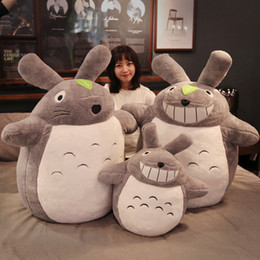 totoro figures Coupons - Dorimytrader hot anime totoro plush toy giant stuffed cartoon totoro doll pillow for children friend gift deco 100cm 120cm 140cm DY50601