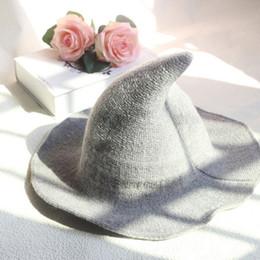 2019 halloween hüte machen Moderner Halloween Hexenhut Woolen Women Lady aus modischer Schafwolle Halloween Partyhut rabatt halloween hüte machen