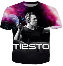 2019 dj top music La más nueva moda popular Tiesto DJ Music T-shirt impresión 3D hombres / mujer Unisex verano cuello redondo manga corta Casual Tops estilo Hip Hop K985 dj top music baratos