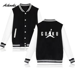 anime xxs Rabatt Aikooki SOHN GOKU Neue Uniform Männer Baseball Jacken Winter Anime Jacke Männer / Frauen College Mantel Lässige Sweatshirt Mode Jacken