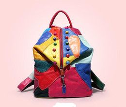 bolso de patchwork de cuero multicolor Rebajas 2019 bolso de hombro de diseñador de alta calidad bolso de hombro de moda de cuero de pu bolso de mensajero bolso de hombro de mujer de color sólido