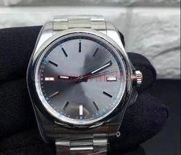 39mm relojes deportivos Rebajas HOT 39mm Gris Dial Hombre Mecánico de acero inoxidable Automático 2813 Relojes de movimiento Reloj deportivo Reloj de cuerda automática Reloj luminoso