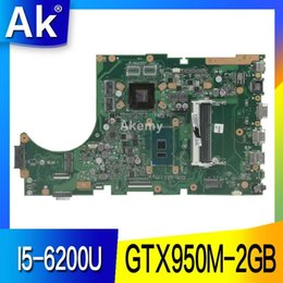 asus motherboard laptop Promo Codes - AK X756UX MAIN_BD. I5-6200U GTX950M-2GB Mainboard For Asus X756U X756UXM K756U X756UB laptop motherboard test ok