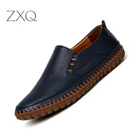 c803d1f11 Pl;us Size 38-47 Handmade Genuine Leather Mens Shoes Casual Men Loafers  Fashion Breathable Driving Shoes Slip On Moccasins on sale