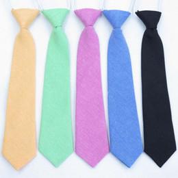 Moda cravatta ragazze online-120pcs / lot new fashion Bambino bambino cotone smoking generale del partito cravatta / cotone cravatta per le ragazze dei ragazzi