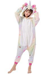 Presente de aniversário de uma peça on-line-Crianças Unisex Animal Onesie Unicorn Pijama Cosplay Outfit Halloween Traje One-Piece Presentes de Aniversário