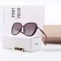 luxus-polaroid-sonnenbrille Rabatt Top-Qualität Polaroid Objektive Art und Weise Frauen-Mann-Sonnenbrille UV400 polarisierte Designer Driving Oval Sonnenbrillen Luxus Aviators Goggle mit dem Kasten