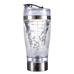 Литиевая батарея с водяной балкой онлайн-450 мл USB заряженный протеиновый порошок шейкер электрический автоматический смеситель встроенный литиевая батарея BPA бесплатная бутылка для воды чашка для смешивания