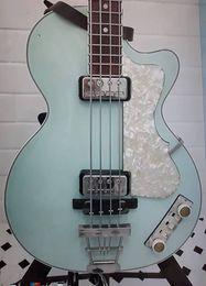 "Perle luce online-125 ° Anniversario Hofner Contemporary HCT 500/2 Violino Club Bass Chitarra elettrica verde chiaro, 30 ""scala corta, Pickguard bianco perla"
