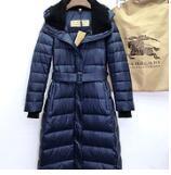 Kaufen Sie im Großhandel Lange Blaue Unten Parka Mantel