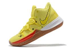 2019 новые спортивные кеды KYRIE 5 opti желтые баскетбольные кроссовки для мужчин / женщин / детей высокого качества kyries V молодежные виды спорта от