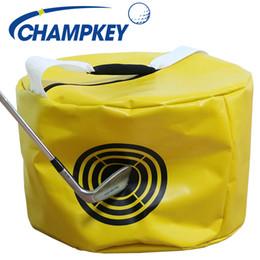 2019 golf distance teleskop Wasserdichtes Gewebe mit hoher Dichte Golf Strike Bag Ergonomisches Design Power Impact Schaukelhilfe Smash Hit Trainer Golf Hitting Bag