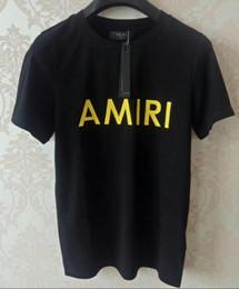 Patrones de camisetas deportivas online-19SS Moda de verano de algodón de alta calidad KANYW WEST marcas diseñadores camiseta Street fashion sport camiseta de manga corta con estampado de pecho