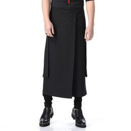 2019 pantalones largos faldas moda Personalizado 2019 Nueva moda Harlan falda larga pantalones barra de noche de pelo falda larga pantalones hombres y mujeres con la ropa de trabajo en general rebajas pantalones largos faldas moda