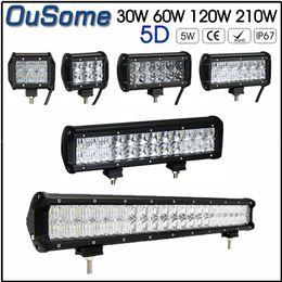 2019 6.5 lumières spot spot 4 pouces 30W 6.5 pouces 60W 12 120W 20 210W spot inondation combo camion étanche offroad 4X4 voiture 12v travail led barre lumineuse 5D 6.5 lumières spot spot pas cher