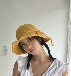 460bd029fbcfff Elegant Lady Bow Knitted Fisherman Spring Summer Hundred Shade Children  Excursion Pot Hat Sun Hat Korean Version Hat
